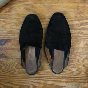 Free people faux suede mules